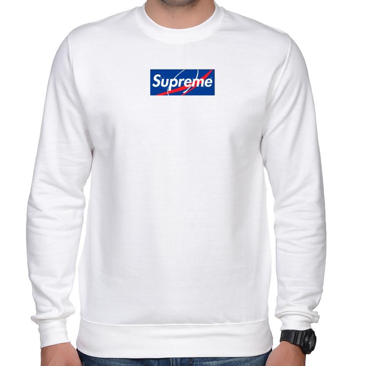 2de71c157aa98 SUPREME X NASA Bluza Biała -